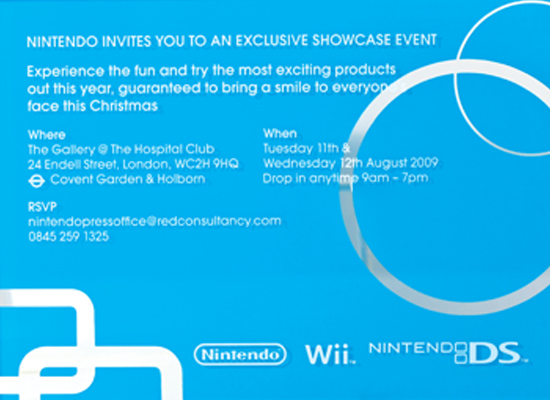 Nintendo (Summer showcase invite)