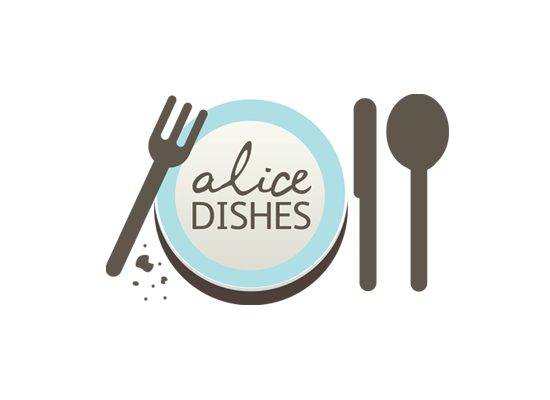 Alice Dishes  <br/>Identity, stationary and blog design